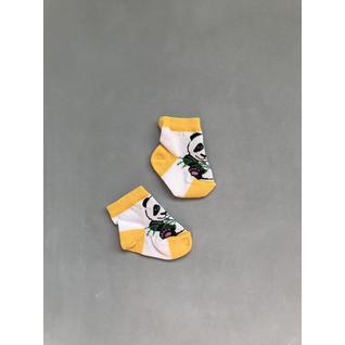 И84 носки детские панда желтый ИГЛА (12-18) (12)