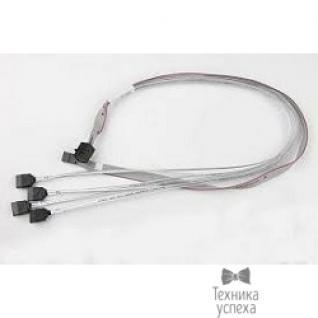 Supermicro Supermicro CBL-SAST-0556 internal mini SAS HD to 4 SATA, 90/90/75/75cm w/75cm SB, S. 30AWG