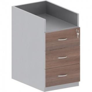 Мебель Easy St Тумба приставная 904010 т.дуб/сер. (570) 3 ящ.