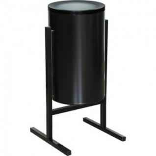 Урна стальная арт СЛ2-300 черная 300х510мм объем 36 л