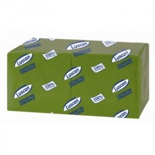Салфетки бумажные Luscan Profi Pack 1сл24х24зеленые 400шт/уп