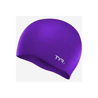 Шапочка для плавания Tyr Wrinkle Free Silicone Cap, силикон, Lcs/510, фиолетовый