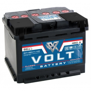 Аккумулятор VOLT Classic 6CT- 55N 55 Ач (A/h) прямая полярность - VC 5511 VOLT VC6CT- 55N