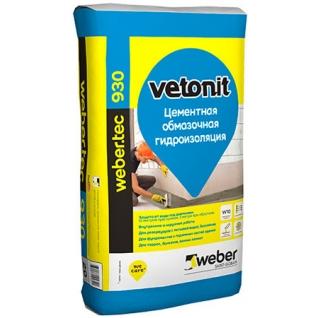 ВЕТОНИТ Вебер.Тек 930 гидроизоляционная смесь (20кг) / WEBER.TEC VETONIT 930 цементная обмазочная гидроизоляция (20кг) Ветонит