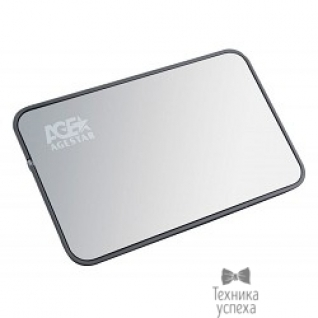"AgeStar AgeStar USB 3.0 Внешний корпус 2.5"" SATA AgeStar 3UB2A8 (SILVER/BLACK) USB3.0, сталь+пластик, безвинтовая конструкция (06515)"
