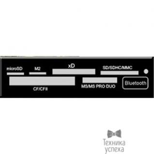 """Ginzzu USB 2.0 Card reader SDXC/SD/SDHC/MMC/MS/microSD/xD/CF + Bluetooth 2.1, 3.5"""" (черный) GR-138TB/LE"""
