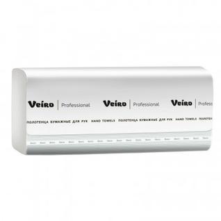 Полотенца бумажные д/дисп Veiro Prof Basic 1сл 250лx20пач/кор V-слож KV104