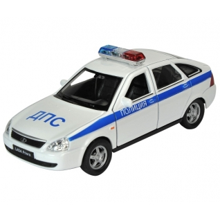 Коллекционная модель Lada Priora - Полиция, 1:34-39 Welly