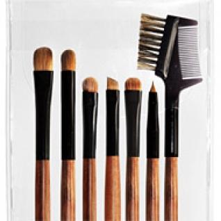 Профессиональные кисти для макияжа - Набор JEANS из 7 кистей для макияжа глаз и бровей 7-04
