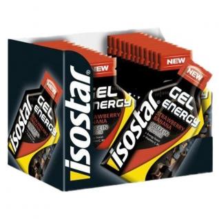 Энергетическое питание Isostar Gel Energy Erdbeere-Banane mit Koffein 35 g – 24 Pouches