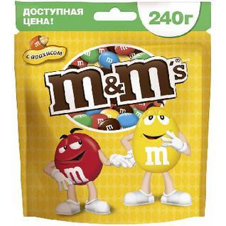 Конфеты Драже M&M`s с арахисом 240г