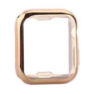 Чехол силиконовый TPU&защита экрана 360° COTEetCI для Apple Watch Series 5/ 4 (CS7060-GD) 44мм Золотистый