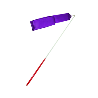 Лента для художественной гимнастики Amely Agr-201 6м, с палочкой 56 см, фиолетовый