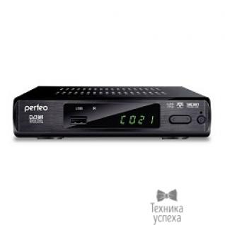 Perfeo Perfeo DVB-T2 приставка для цифрового TV, DolbyDigital, HDMI, внутренний блок питания (PF-168-3-IN)