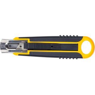Нож промышленный 18 мм Attache Selection с возвр.пружиной, с резин.руч.