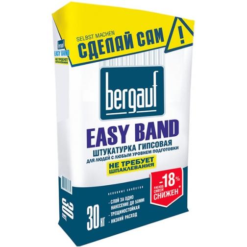БЕРГАУФ Изи Банд штукатурка гипсовая (30кг) / BERGAUF Easy Band штукатурка гипсовая для потолков и стен (30кг) Бергауф 36984100