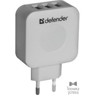 Defender Defender Сетевой адаптер питания 3 порта USB, 5V / 4A (UPA-30) (83535)