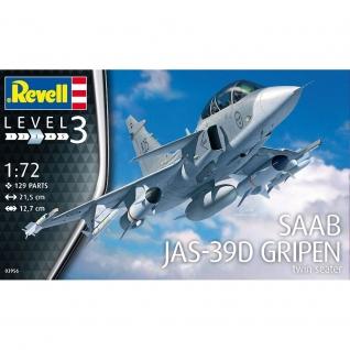 Сборная модель самолета Saab JAS-39D Gripen, 1:72 Revell