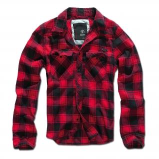 Brandit Рубашка Brandit в клетку, цвет черно-красный