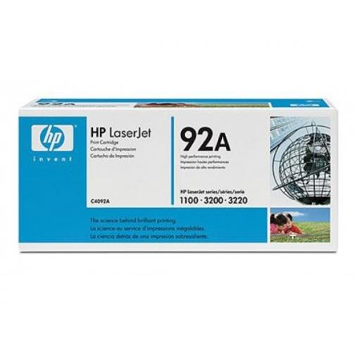 Картридж C4092A №92A для HP LJ 1100, 1100A, 3200 (черный, 2500 стр.) 714-01 Hewlett-Packard 852604 1