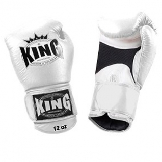 King Перчатки боксерские King KBGAV 10 унций белые