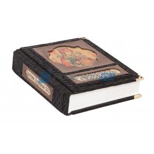 """Книга подарочная в обложке из комбинированной кожи """"Цветник духовный. Мудрость праведных"""""""