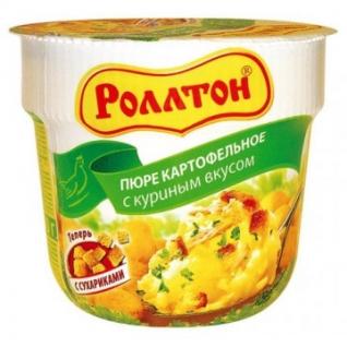 Картофельное пюре Роллтон куриное 24штx40г