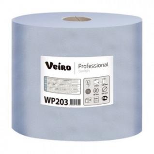 Бумага протирочная Veiro 2сл.500лx6рул/уп, съем.втул,синий WP203