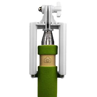 Монопод для селфи с кнопкой спуска Selfi MINI Monopod audio cable (0.48 м) зеленый Прочие