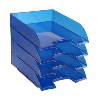Лоток для бумаг ATTACHE, тонированный синий 4шт/упаковке