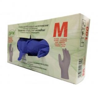 Мед.смотров. перчатки нитрил. нестер. н/о текстур.на пал. SFM (L) 50пар/уп