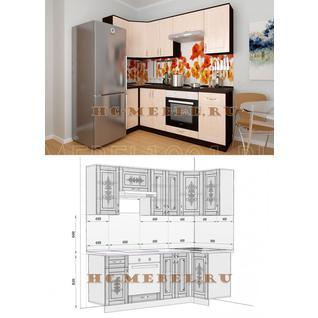 Кухня БЕЛАРУСЬ-8.6 модульная угловая, правая, левая