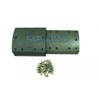 Накладка тормозная L1 11т комплект на ось 8шт с заклёпкой.D11Y10-034/35