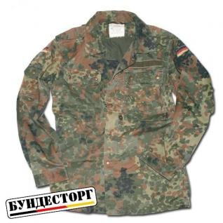 Рубашка полевая, Бундесвер,камуфляж флектарн, б/у