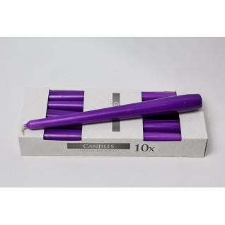 Набор свечей фиолетовый (10шт.)