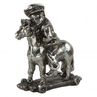 Статуэтка «Мальчик на лошадке» (скульптура) (Античное серебро)