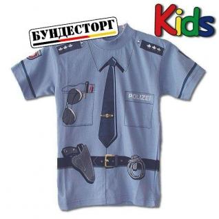 Футболка детская Polizei Cиняя