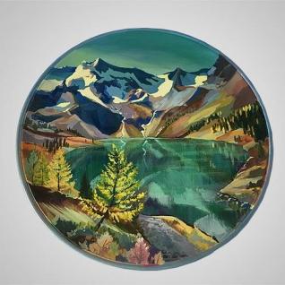 "Настенная тарелка ""Горное озеро"""