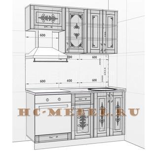 Кухня БЕЛАРУСЬ-1В модульная, правая, левая