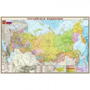 Настенная карта РФ политико-административная 1:7млн.,1,22x0,79м.,ОСН1224012