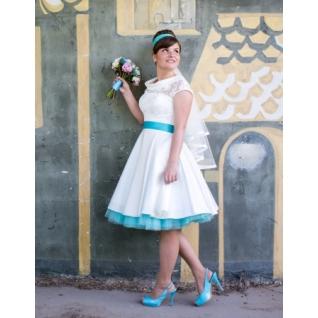 Платье свадебное  Короткие свадебные платья⇨Ретро К