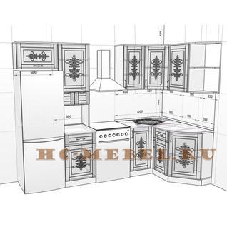 Кухня БЕЛАРУСЬ-9.2 модульная угловая, правая, левая
