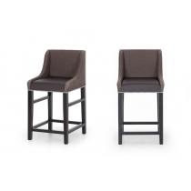 Полубарный стул Дрейк экокожа матовая дарк браун+Трои 08 HoReCa