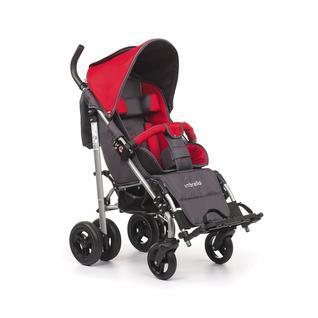 АРМЕД Кресло-коляска для детей-инвалидов и детей с заболеваниями ДЦП с принадлежностями: VCG0C UMBRELLA NEW (пневмо, белый горох-синий)