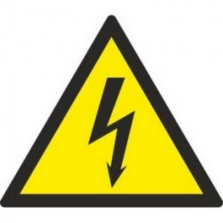 Знак безопасности W08 Опасн.поражения эл.током(плёнка,150х150) уп.10шт