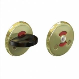 Кнопка поворотная R0350 WC золото - черная ручка