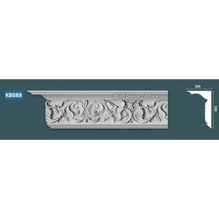 КВ088 Карниз гипсовый с орнаментом - 150х100мм