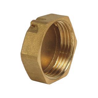 Заглушка латунная (колпак) Ду-25 внутр. резьба под пломбу (1004) ВЛМЗ
