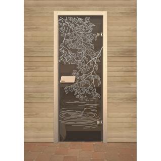 Дверь для сауны NARVIA, Берёзка 7х19