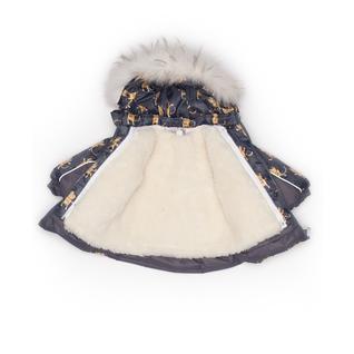 Комплект MalekBaby (Куртка + Полукомбинезон), С опушкой, №343/1 (Коты с короной+серый) арт.409ШМ/2